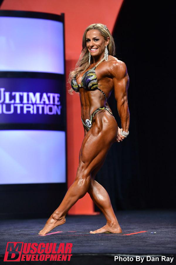 Pro bodybuilder nathalie falk in the gym - 1 part 7