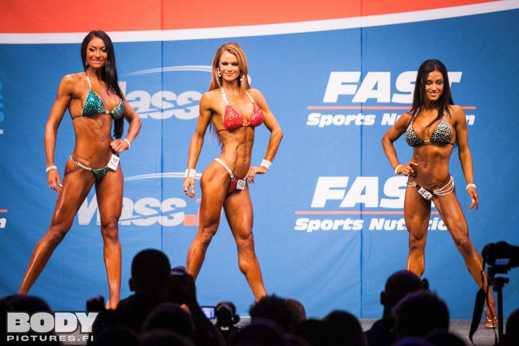 Nicole Wilkins Fitness overall bikini