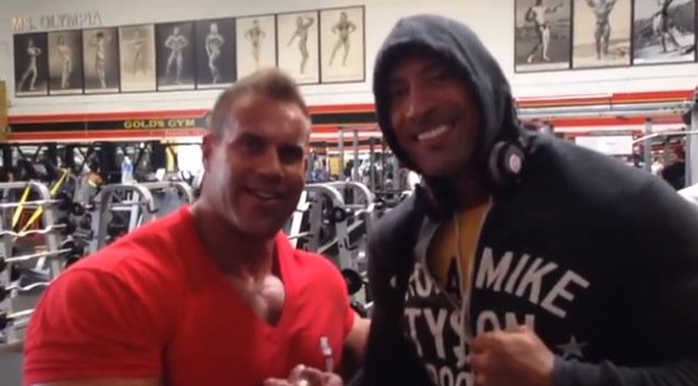 jay cutler the rock Aug 2014