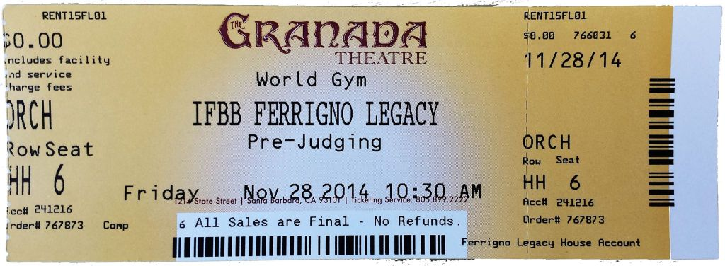 ticket ferrigno legacy