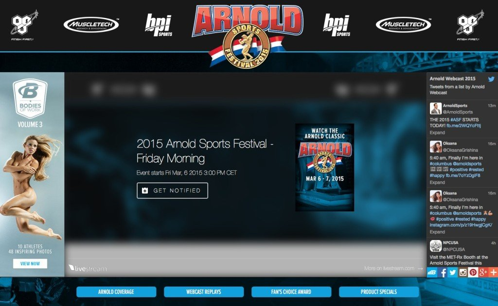 webcast arnold 2015