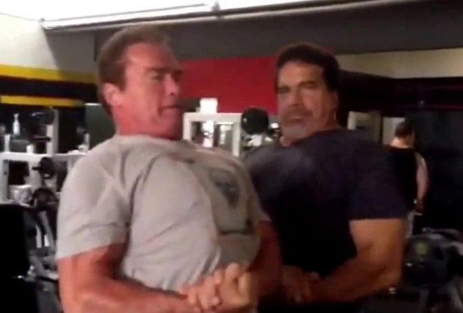 WATCH: Arnold and Lou at Gold's - Evolution of Bodybuilding