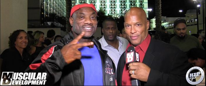 dexter jackson with Shawn Ray 2015 olympia