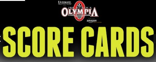 2015 Olympia Weekend Official Score Cards