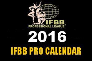 The 2016 IFBB Pro League Calendar