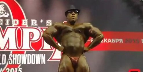 WATCH: Shawn Rhoden guest posing at the 2015 Amateur Olympia Russia