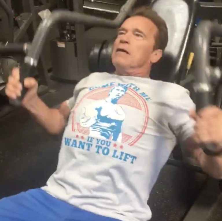 WATCH: Schwarzenegger live streams workout from Gold's Gym in Venice California