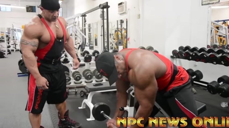 WATCH: Shawn Rhoden and Guy Cisternino Arm Workout At NPC Photo Gym