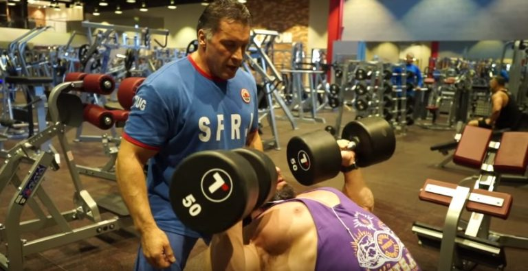 WATCH: Andy Bell trains Chest with Milos Sarcev