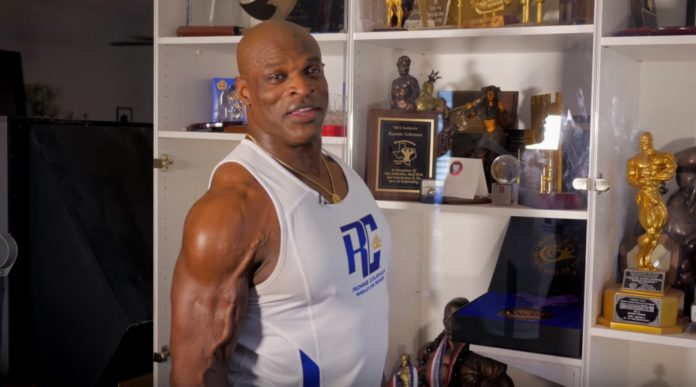 Ronnie Coleman trophy case