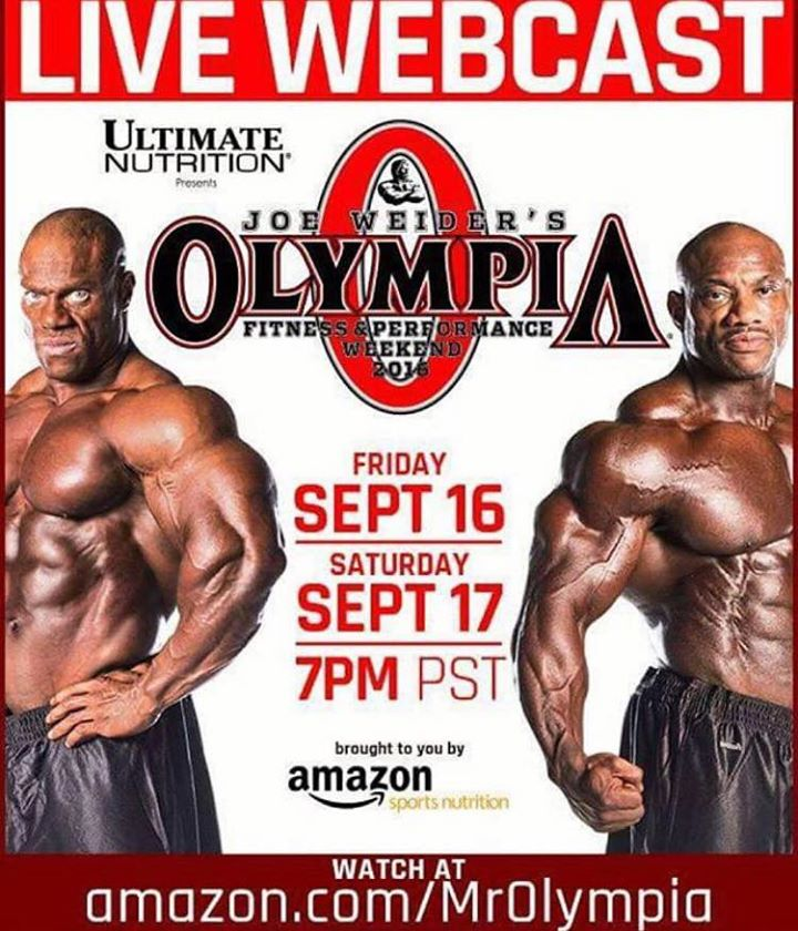The 2016 Olympia Weekend Live Webcast