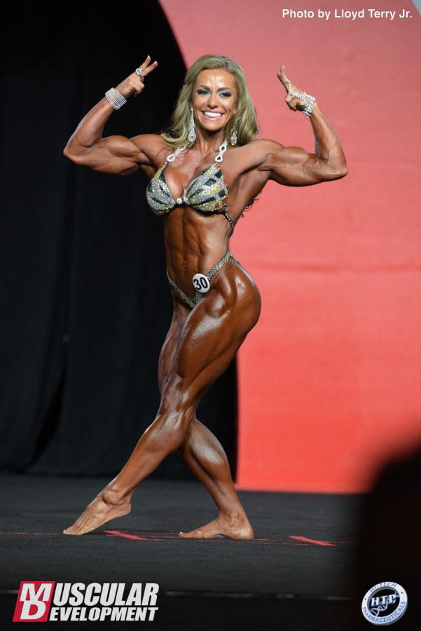 Juliana Malacarne wins the 2016 Women's Physique Olympia