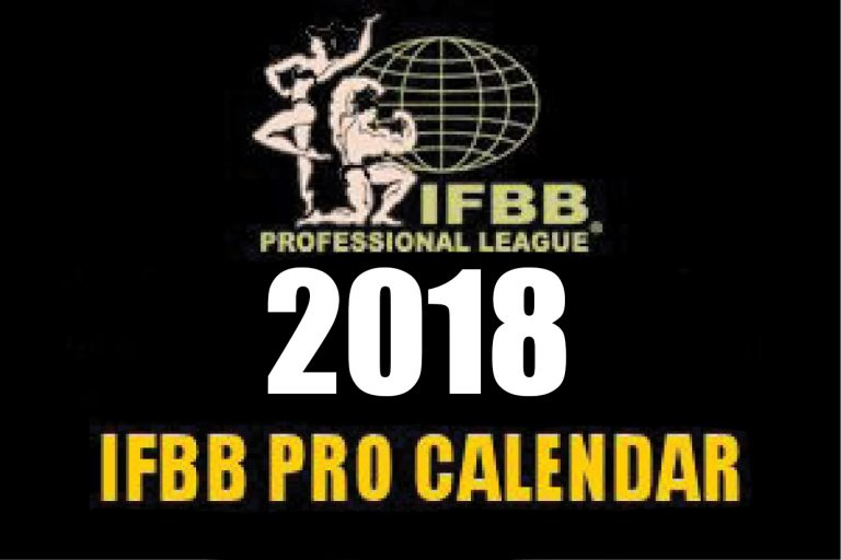 IFBB Pro 2018 competition calendar