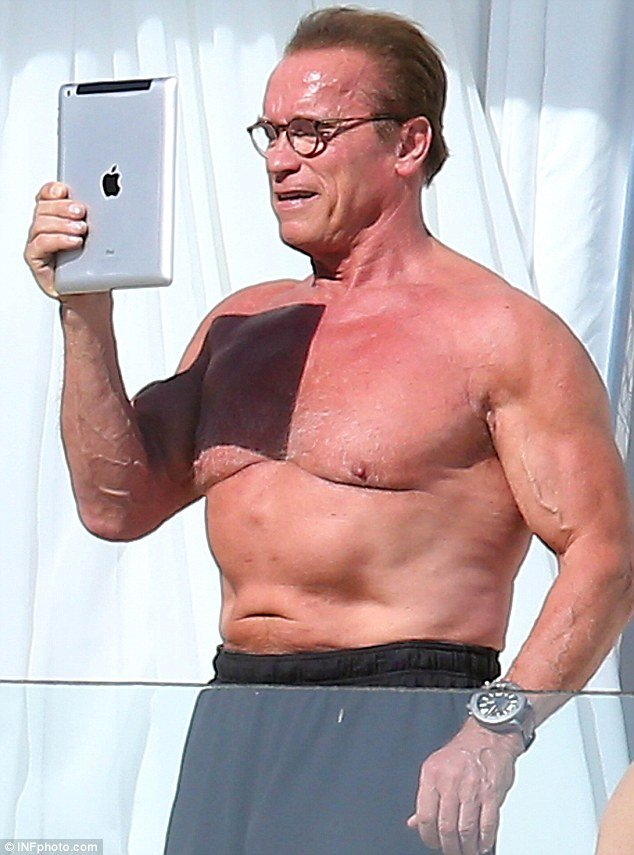 I throw up when I look at myself Arnold Schwarzenegger