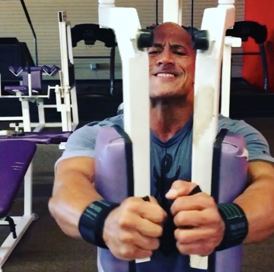 WATCH: The Rock liked the 'Pec Deck' machine so much he bought it