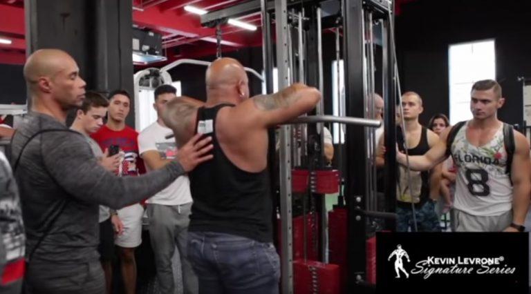 WATCH: Kevin Levrone Seminar at Iron Addicts Gym Miami, Florida