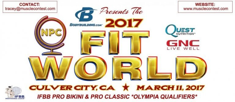 Contest Results: 2017 IFBB Fit World Pro