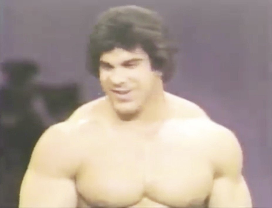 Lou Ferrigno shocks audience with herculean size