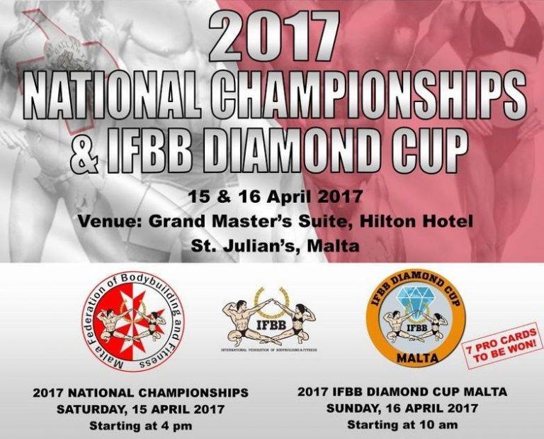 2017 IFBB Diamond Cup – Malta – Information for athletes and coaches