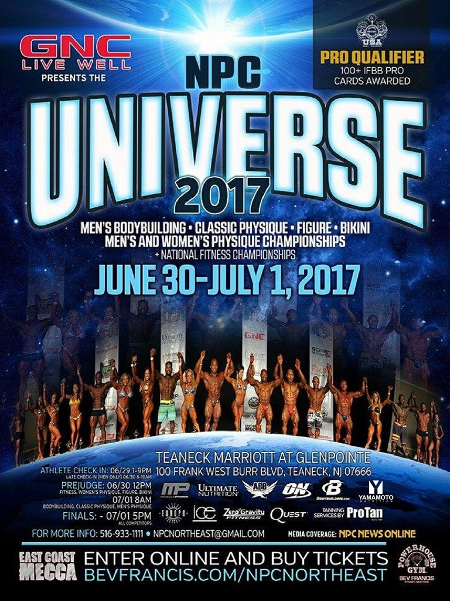 2017 NPC Universe Championships Official Results