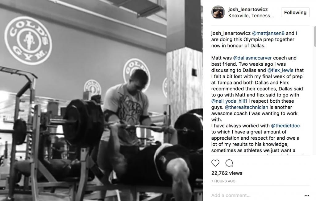 Joshua Lenartowicz joins Matt Jansen's team