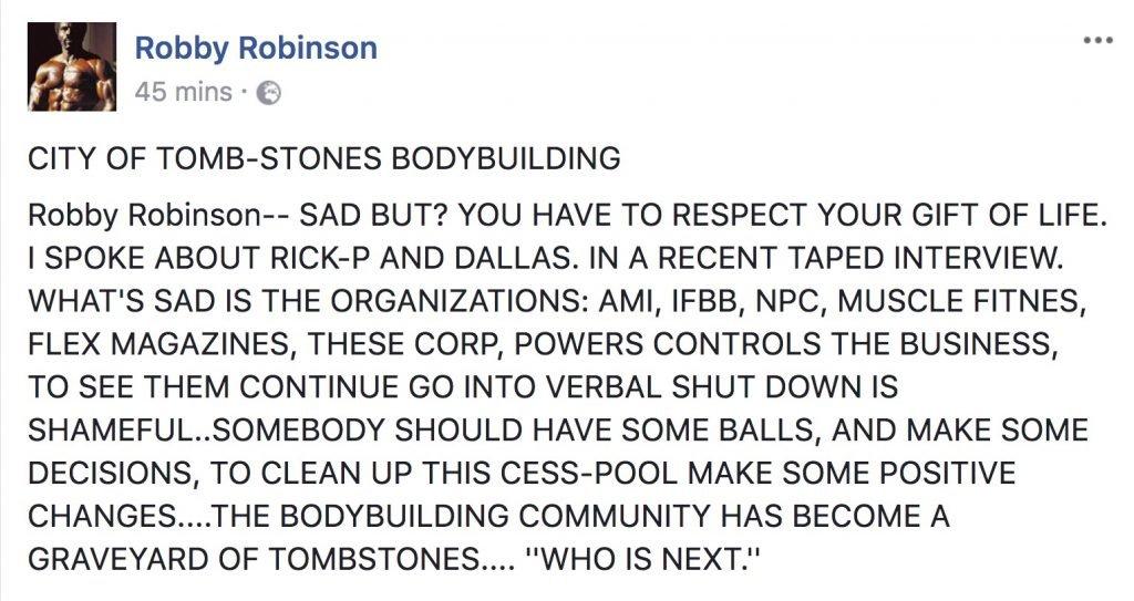Robby Robinson speaks