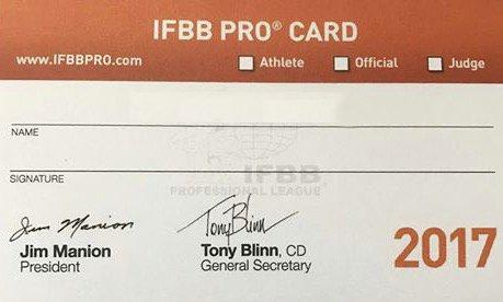 IFBB Pro Card