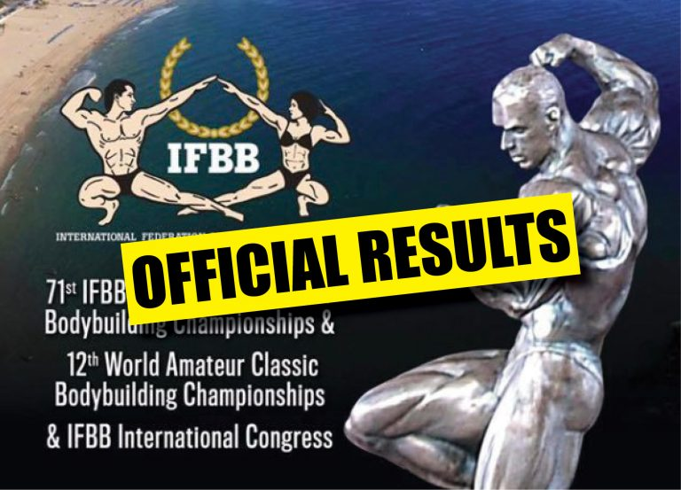 OFFICIAL RESULTS: 2017 IFBB World Amateur Bodybuilding Championships