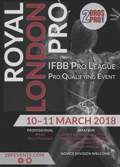 London IFBB Pro show drop Men's Physique/Bikini