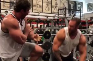 Calum Von Moger suffers bicep tear