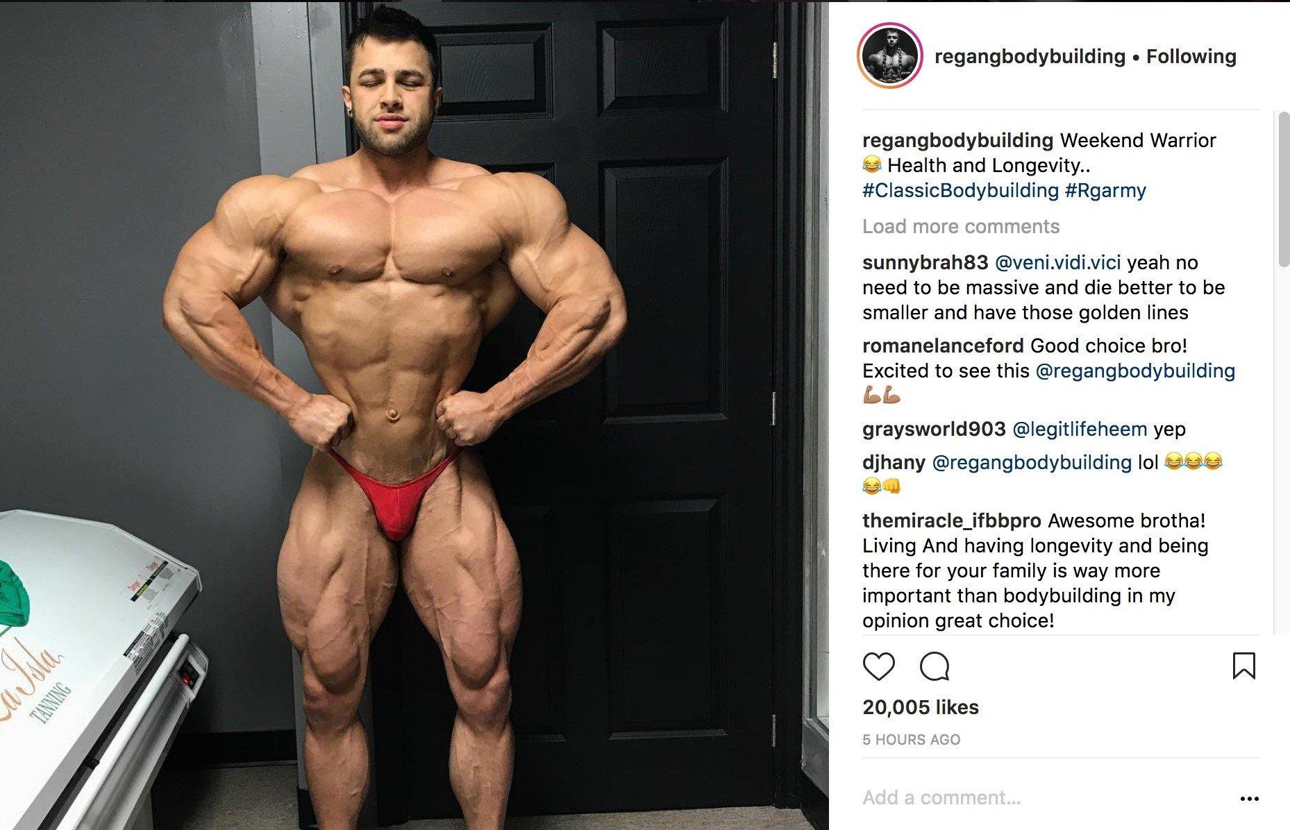 Canadian bodybuilding star Regan Grimes