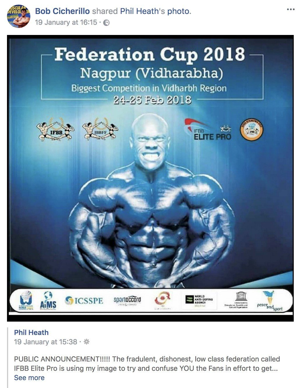 IFBB/IFBB Elite Pro NOT affiliated with controversial ...