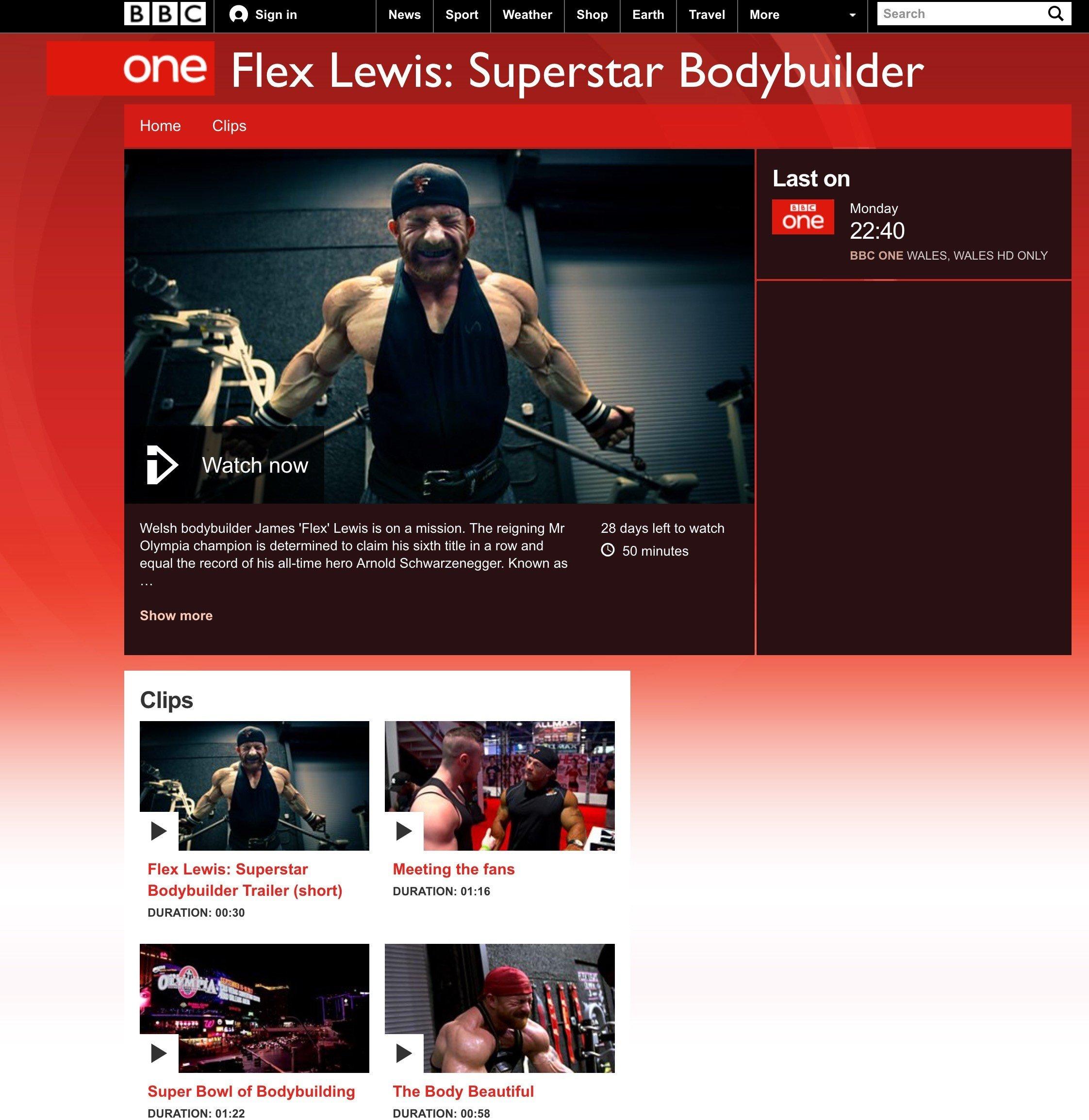 Flex Lewis: Superstar Bodybuilder
