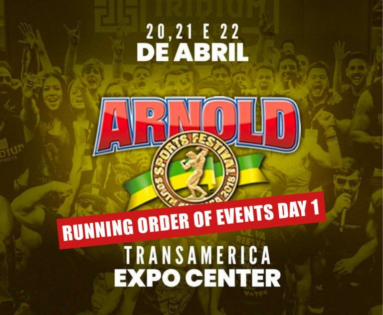 Running Order of events: 2018 Arnold Classic South America Day 1