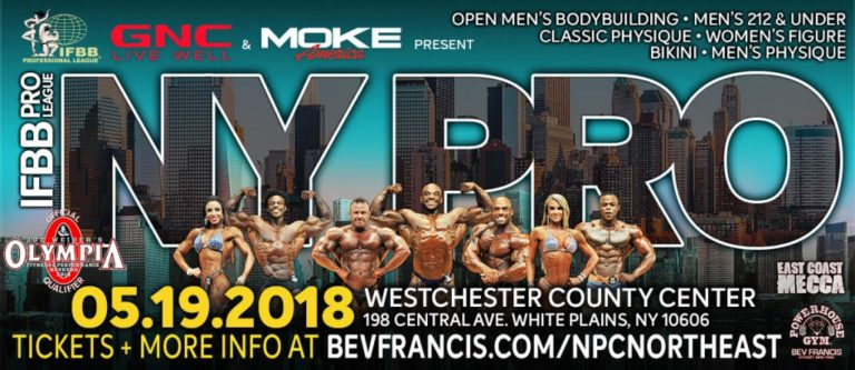 OFFICIAL COMPETITORS LIST: 2018 New York Pro