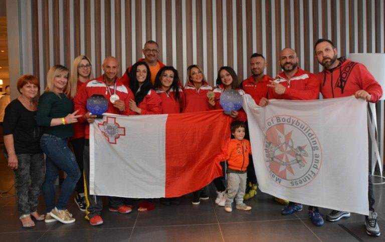 Gold and Silver Medal for Malta at 2018 IFBB European Championships