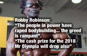 Robby Robinson's blasts modern day bodybuilding