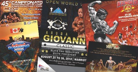 IFBB's upcoming events
