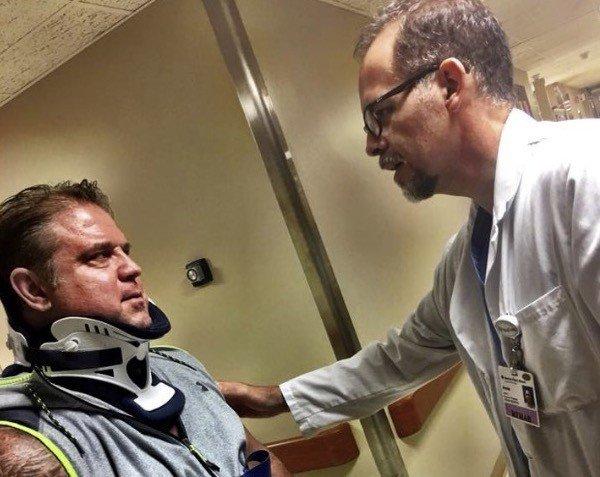Eddie Robinson suffers back injury during contest prep