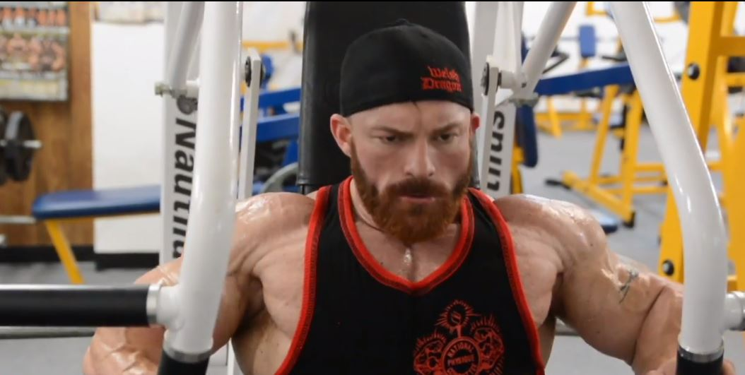 WATCH: Flex Lewis trains chest