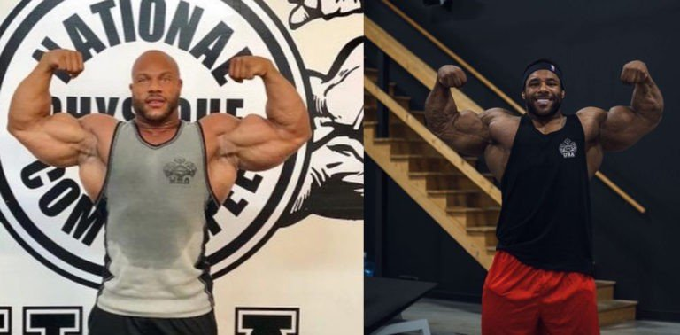 Nathan De Asha mocks Phil Heath's double biceps photo