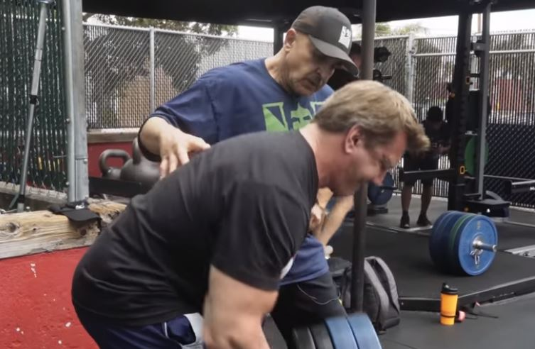 WATCH: Bodybuilding legends Samir Bannout and John Hanson train back