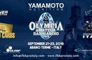 2018 Amateur Olympia San Marino