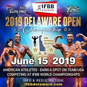 IFBB Physique America Delaware Open Championships  – 15 June 2019