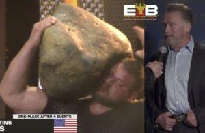 Schwarzenegger almost gets crushed