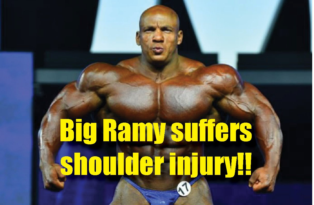Big Ramy reveals shoulder injury