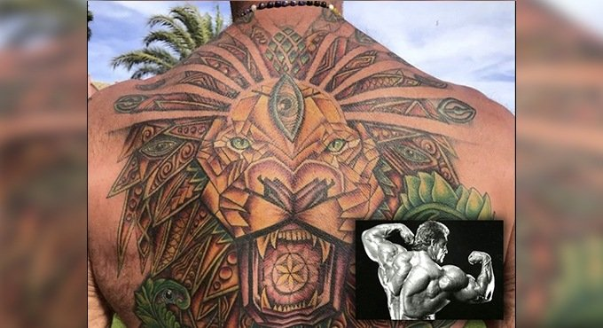 Dorian Yates reveals new tattoo