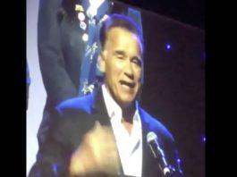 WATCH: Arnold Schwarzenegger jokes