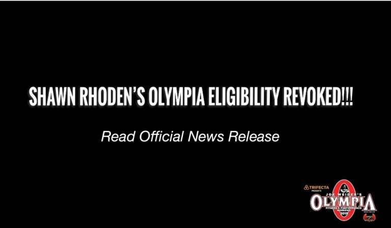 American Media Revokes Shawn Rhoden's Eligibility For 2019 Mr. Olympia Contest