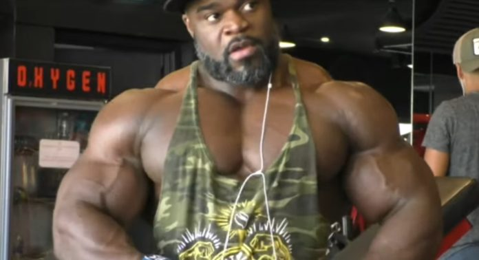 Brandon Curry's back workout